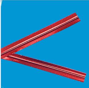 Metallic Red Twist Ties