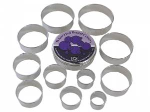 PLAIN PASTRY CUTTERS 11 PC SET