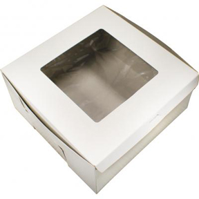 "Window Cake Box - 10""x10""x5"" - qty 100"