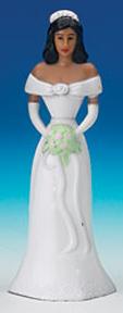 African American Bridesmaids - White Dress