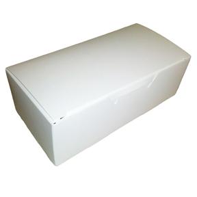 1 Piece Candy Box - White - 1/2lb - qty 2