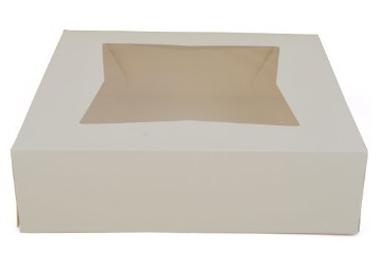 "Window Cake Box - 9""x9""x4"" - qty 200"