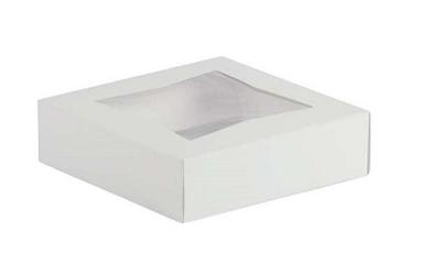 """Pie/Cookie Window Box - 9""""x9""""x2.5"""" - qty 200"""