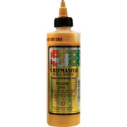 Chefmaster Airbrush Color 8oz - Metallic Yellow