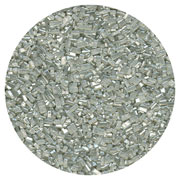SUGAR CRYSTALS - 4 OZ - PEARLIZED SILVER