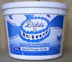 Dixie's Whipped Special Vanilla Icing