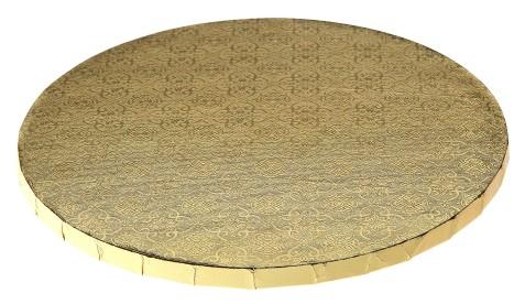 """Gold Round Drum - 8"""""""