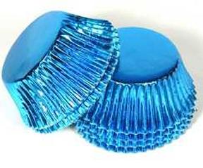 Standard Foil Baking Cups - Light Blue - 500ct
