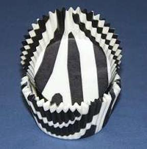 Mini Zebra Baking Cups - Black - 500ct
