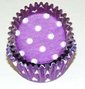 Standard Glassine Baking Cups - Polka Dot - Purple - 500ct