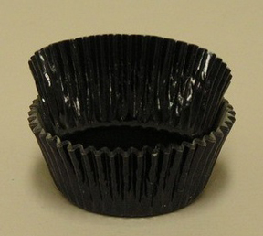 Standard Foil Baking Cups - Black - 30ct