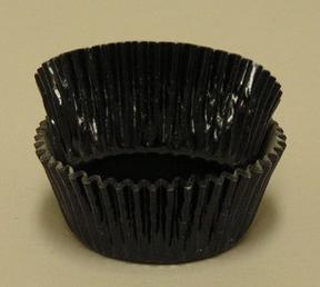 Mini Foil Baking Cups - Black - 42ct