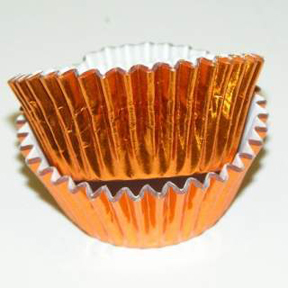 Mini Foil Baking Cups - Copper - 42ct