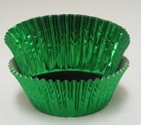 Mini Foil Baking Cups - Green - 42ct