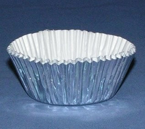 Mini Foil Baking Cups - Silver - 42ct