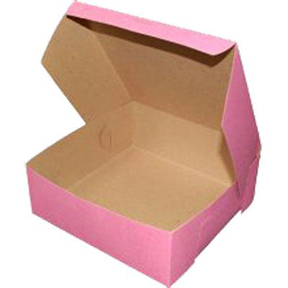 "Pink Sheet Cake Box - 14""x19""x4"" - qty 6"