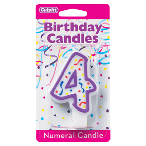 PURPLE NUMERAL CANDLES - 4