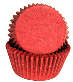 Standard Glassine Baking Cups - Red - 30ct