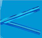 Metallic Blue Twist Ties