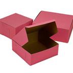 """Pink Cake Box - 10""""x10""""x5"""" - qty 100"""