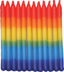 Tye-Dye Rainbow Birthday Candles