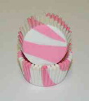 Standard Glassine Baking Cups - Zebra - Light Pink - 500ct