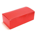 1 Piece Candy Box - Red - 1/2lb - qty 2