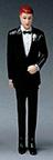 Caucasian Groomsmen - Black Tux