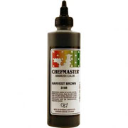 Chefmaster Airbrush Color 8oz - Harvest Brown