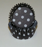 Standard Glassine Baking Cups - Polka Dot - Black - 500ct