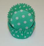 Standard Glassine Baking Cups - Polka Dot - Green - 500ct