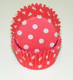 Mini Dot Baking Cups - Red - 50ct