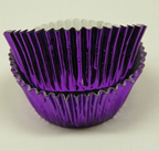 Mini Foil Baking Cups - Purple - 42ct