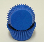 Mini Solid Baking Cups - Blue - 50ct