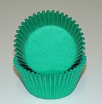 Mini Solid Baking Cups - Green - 50ct
