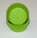 Mini Solid Baking Cups - Lime Green - 500ct