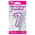 PURPLE NUMERAL CANDLES - 7