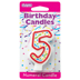 RED NUMERAL CANDLES - 5