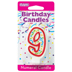 RED NUMERAL CANDLES - 9