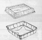 """Disposable Foil Pan with Lid - 8""""x8"""" square - qty 500"""