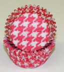 Standard Glassine Baking Cups - Houndstooth - Red - 500ct