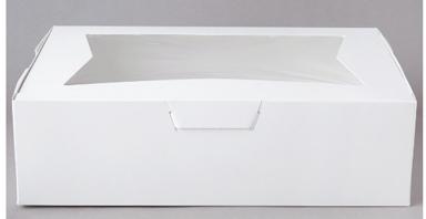 "Window Cake Box - 10""x14""x4"" - qty 100"