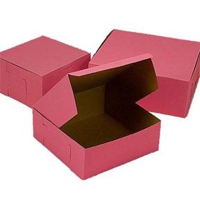 """Pink Cake Box - 12""""x12""""x6"""" - qty 100"""