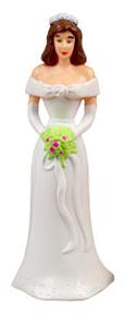 Caucasian Bridesmaids - White Dress