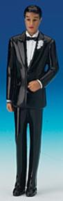 African American Groomsmen - Black Tux