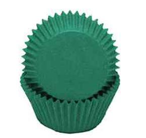 Standard Glassine Baking Cups - Dark Green - 30ct
