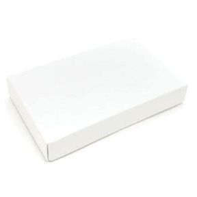 2 Piece Candy Box - White - 1/2lb