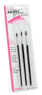 Paint Brushes-Red Sable Set