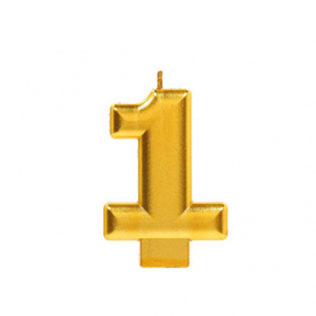 METALLIC NUMERAL GOLD Candle - 1