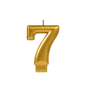 METALLIC NUMERAL GOLD Candle - 7